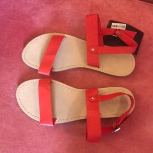 NWT Red Vegan Sandal with Ankle Strap